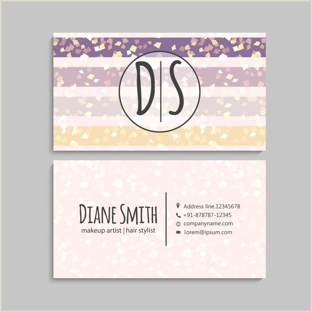 Back Of Business Cards Illustration Front And Back Corporate Business Card