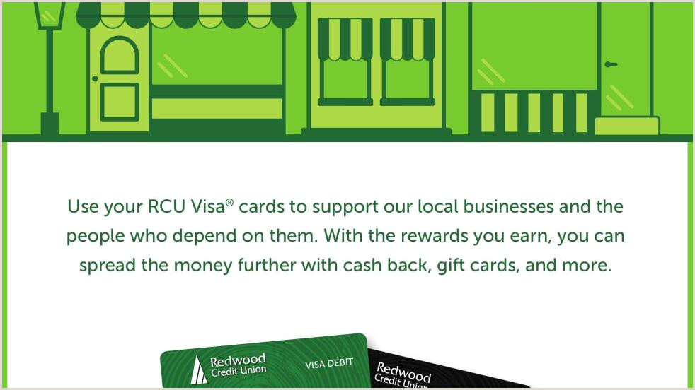 Back Of Business Cards Redwood Credit Union Ad From 2020 10 30