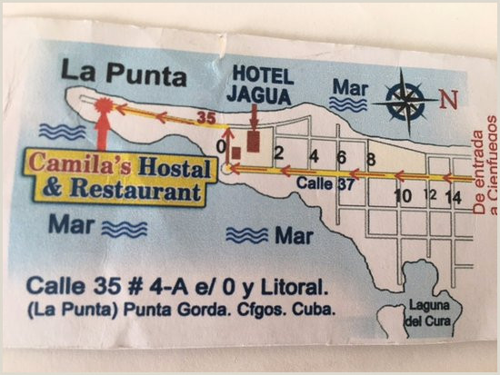 Backs Of Business Cards Back Of Business Card Picture Of Camila S Hostal And