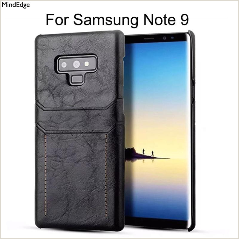 Backs Of Business Cards Business Style Card Holder Leather Back Cover Case For Samsung Galaxy Note 9 Case Shockproof For Samsung Note 9 Protective Shell Buy Cell Phones Cell