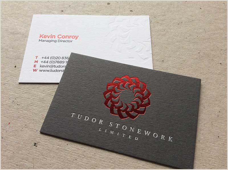 Backs Of Business Cards Letterpressed Business Cards