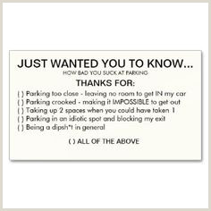 """Bad Business Card 10 """"bad Parking"""" Business Cards Ideas"""