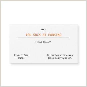 Bad Business Card Bad Parking Business Cards