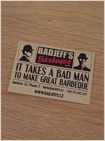 Bad Business Card Business Card Picture Of Badjeff S Barbeque Prague