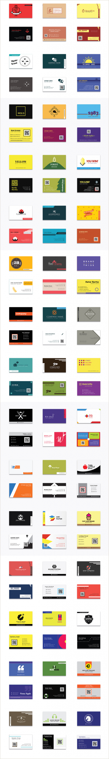 Basic Business Card Template 1000 Business Card Templates Pack Designshock Shockfamily