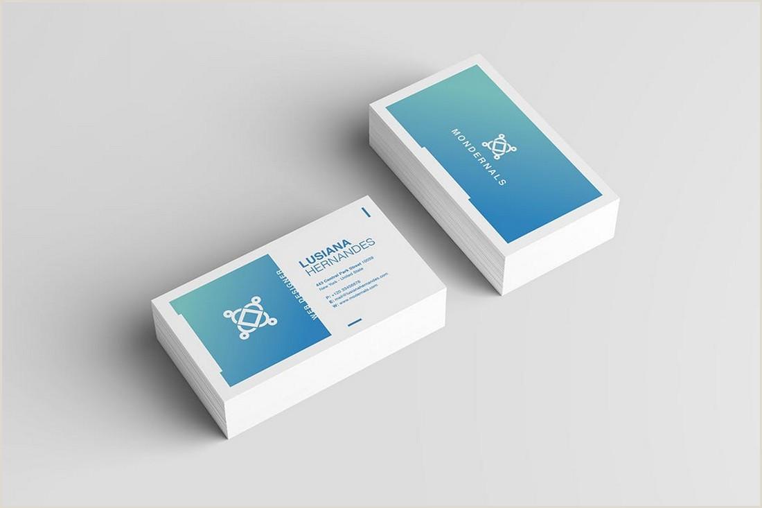 Basic Business Card Template 20 Best Modern Business Card Templates 2020 Word Psd