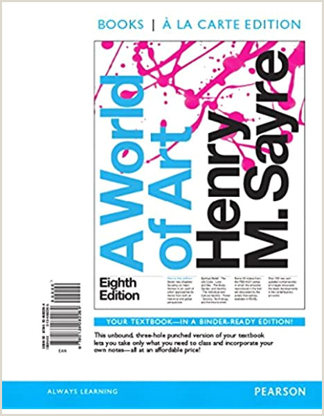 Best Artist Business Cards Amazon A World Of Art Books A La Carte 8th Edition