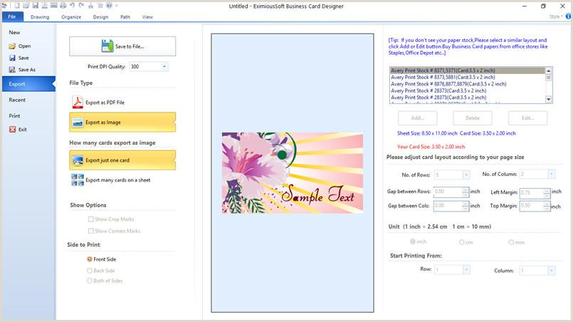 Best Business Card Design Software Business Card Software Business Card Maker Make Free
