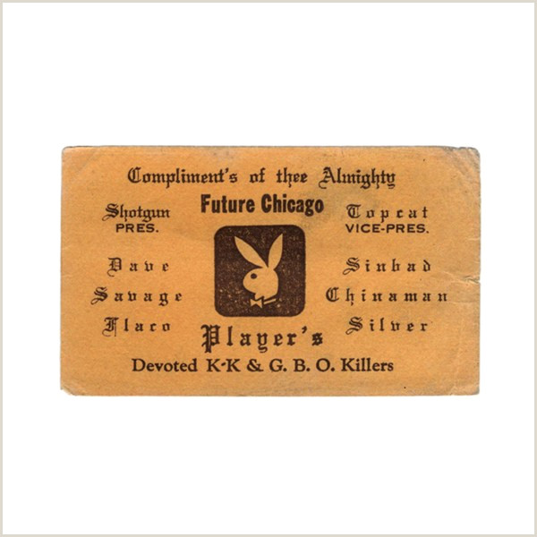Best Business Cards Chicago 1970s Chicago Gangster Business Cards – Cool Hunting