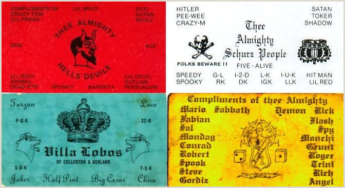 Best Business Cards Chicago Lovers N Killers Chicago Gang Members Business Cards From