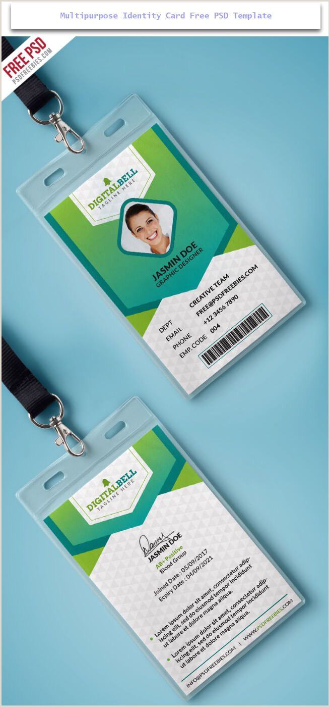 Best Business Cards Credit Employee 30 Creative Id Card Design Examples With Free Download