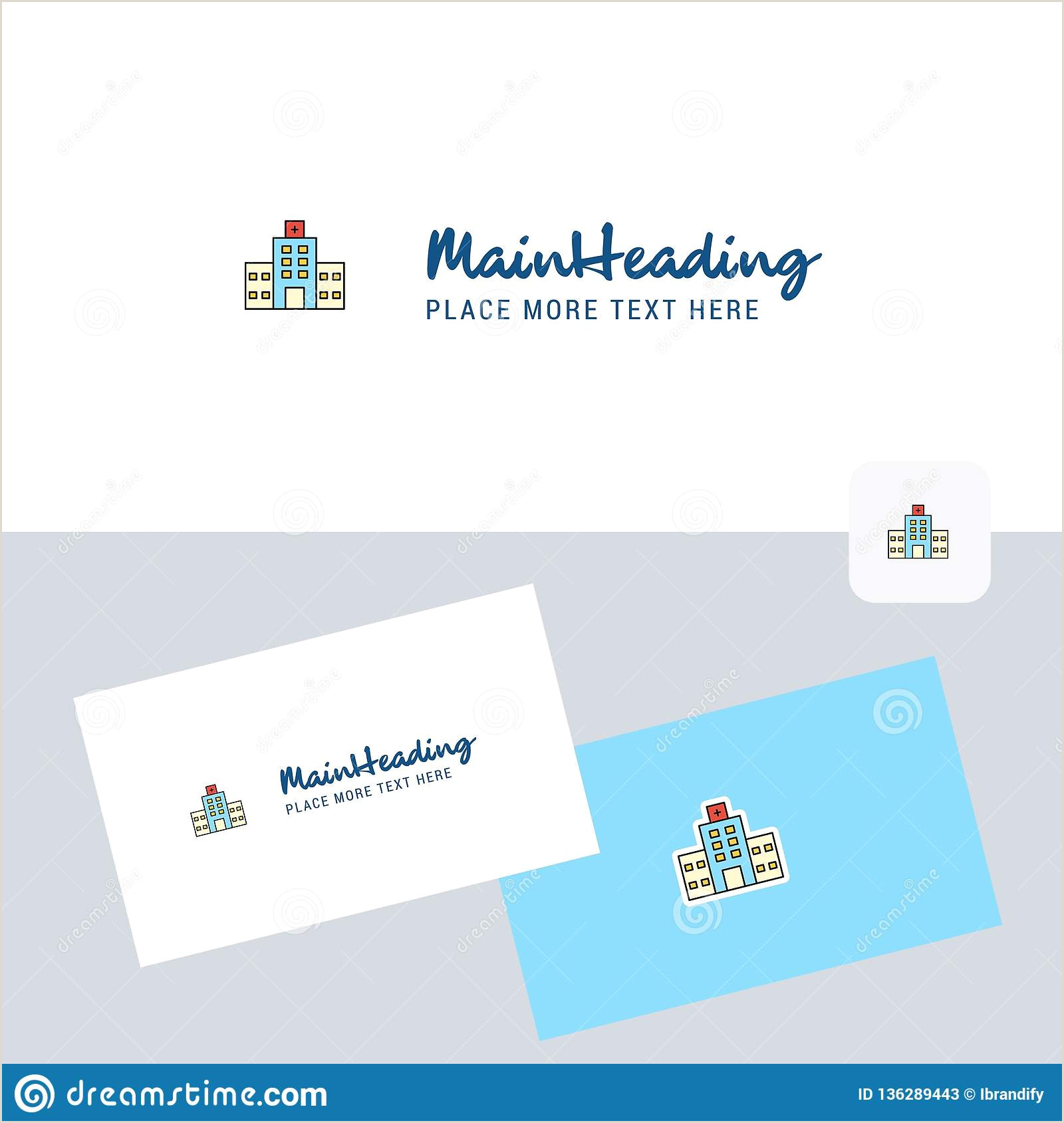 Best Business Cards Desing Hospital Vector Logotype With Business Card Template