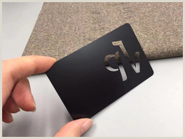 Best Business Cards Finish Printed Black Metal Card Matte Finishing Custom Stainless Steel Business Card