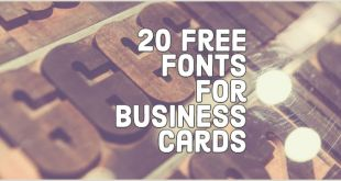 Best Business Cards Fonts 20 Free and Effective Fonts to Use On Your Business Cards