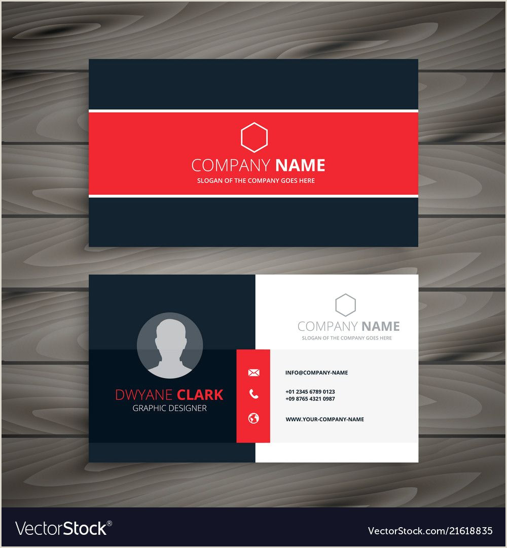 Best Business Cards For 2020 Professional Red Business Card Template Intended For