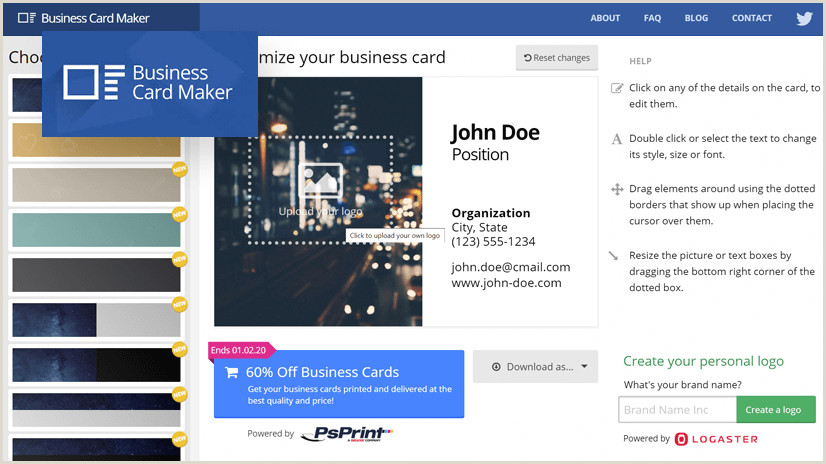 Best Business Cards For 2020 The Top Line Business Card Makers In 2020 Low Cost & Easy