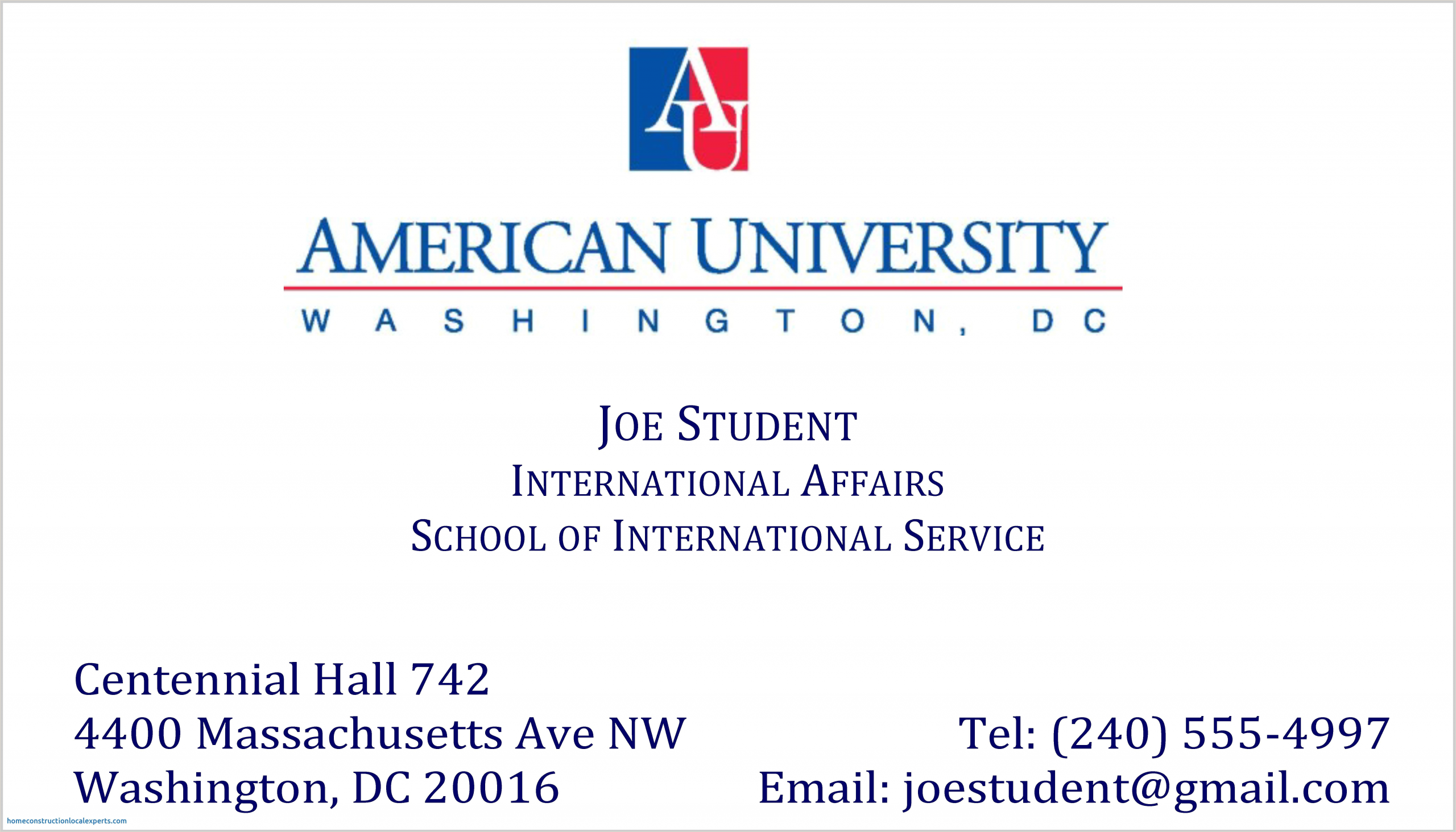 Best Business Cards For Business School Grads 10 Graduate Student Business Card Example – Proposal Letter
