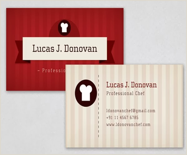Best Business Cards For Chefs 10 Delicious Business Cards For Chefs
