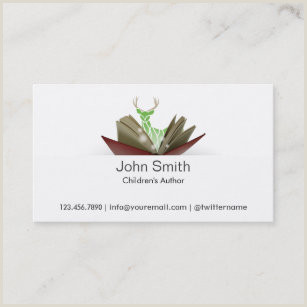 Best Business Cards For Children Book Author Childrens Book Author Business Cards Business Card