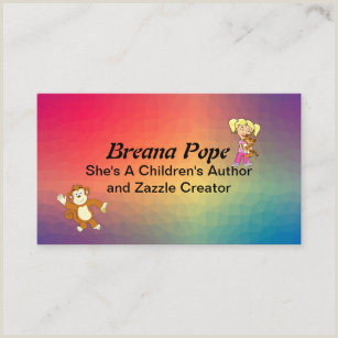 Best Business Cards For Children Book Author Kids Book Business Cards Business Card Printing