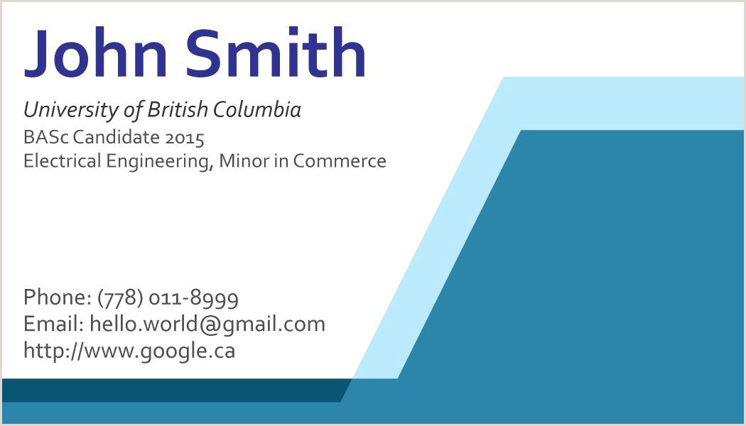 Best Business Cards For College Students College Student Business Card Template Beautiful Business
