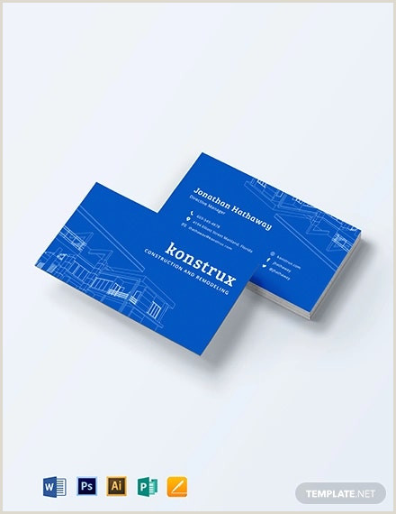 Best Business Cards For Contractors 35 Free Construction Business Template Ms Word Coreldraw