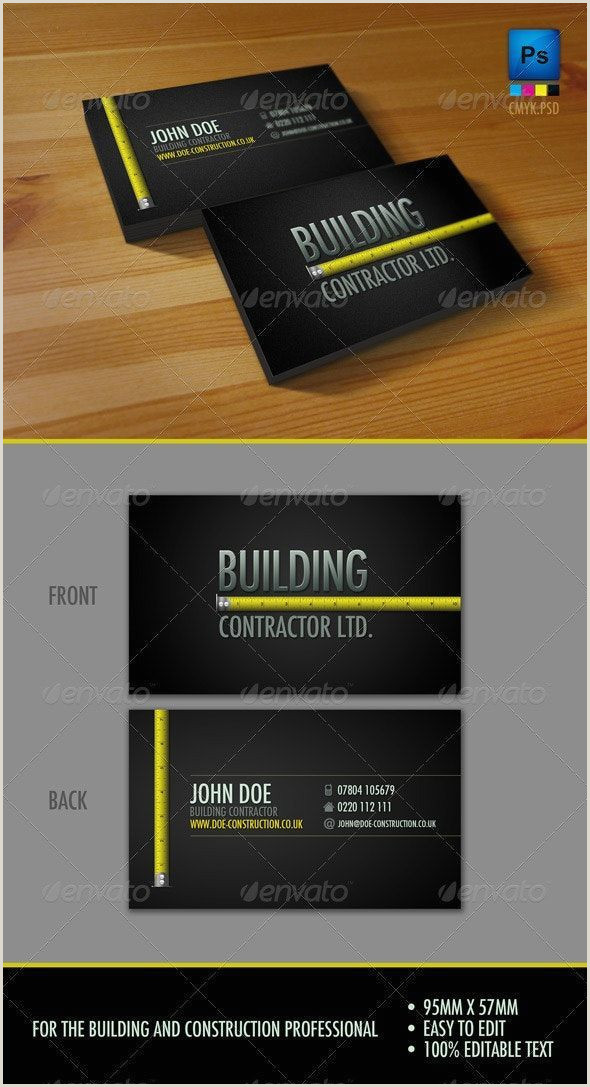 Best Business Cards For Contractors General Contracting Business Cards