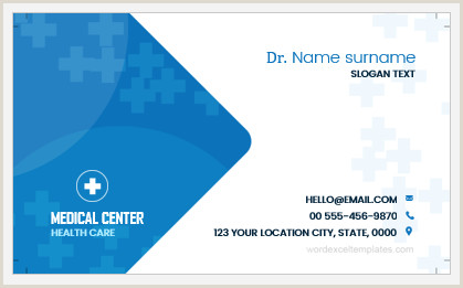 Best Business Cards For Doctor 5 Business Cards For Doctors In Ms Word Printable Format