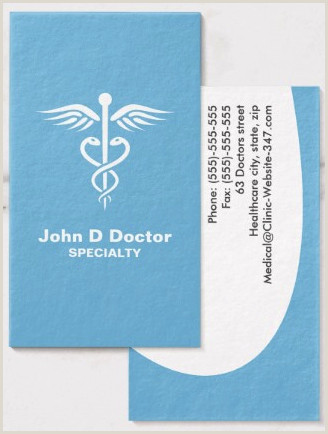 Best Business Cards For Doctor Blue Medical Doctor Or Healthcare Business Cards