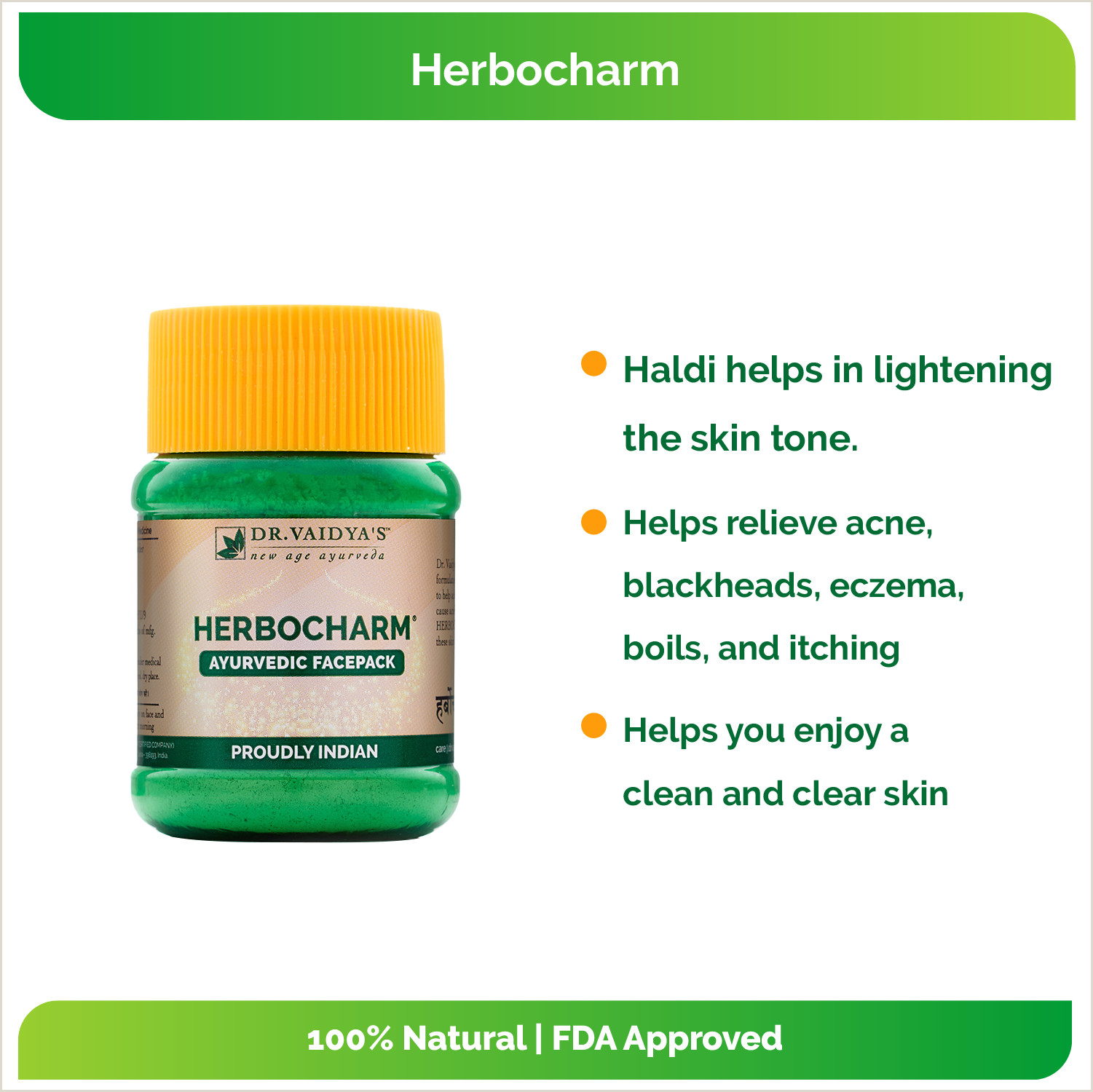 Best Business Cards For Doctor Dr Vaidyas Herbocharm Ayurvedic Face Pack Powder 50 Gm Pack 2