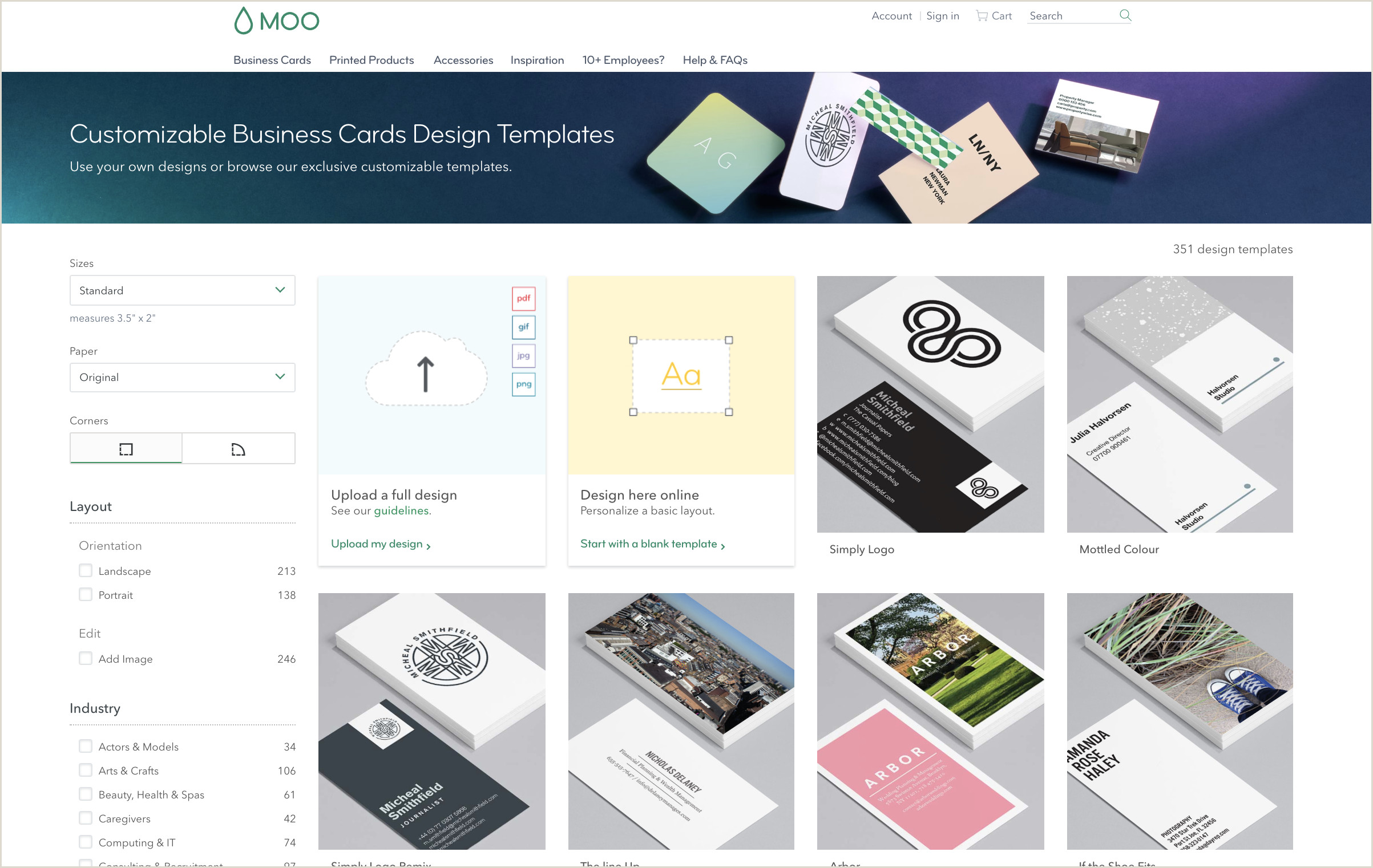 Best Business Cards For Ecommerce 6 Best Line Business Card Providers 2019