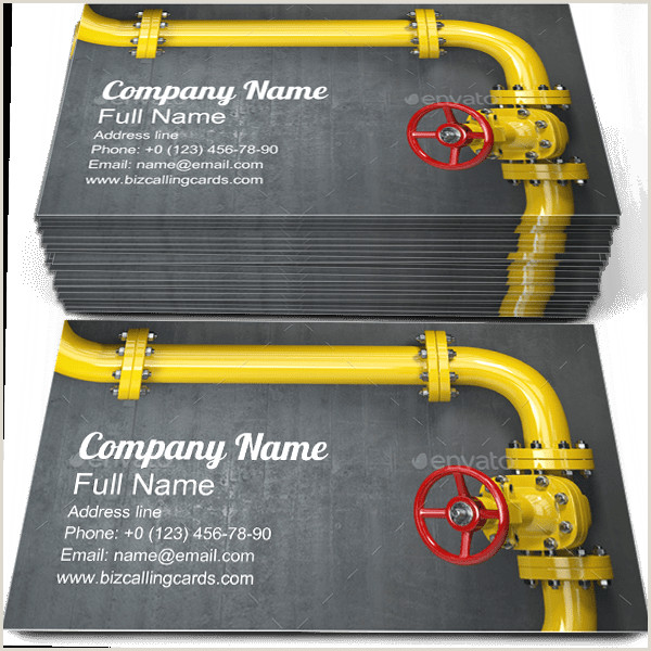 Best Business Cards For Gas ✅ Editable Gas Pipeline Valve Business Card Template