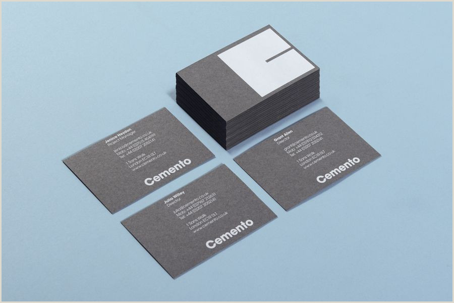 Best Business Cards For.hotels New Logo And Brand Identity For Cemento By S T Bp&o