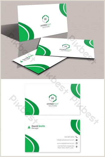 Best Business Cards For Models Green Corporate Business Card Pikbest Templates