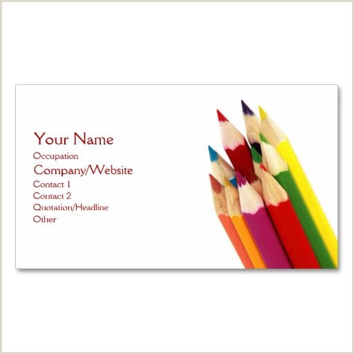 Best Business Cards For Pencil Artist Colored Pencils Business Card Zazzle