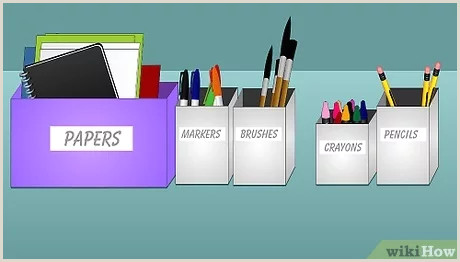 Best Business Cards For Pencil Artist How To Make An Art Studio 8 Steps With Wikihow