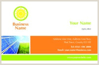 Best Business Cards For Solar Line Print Templates