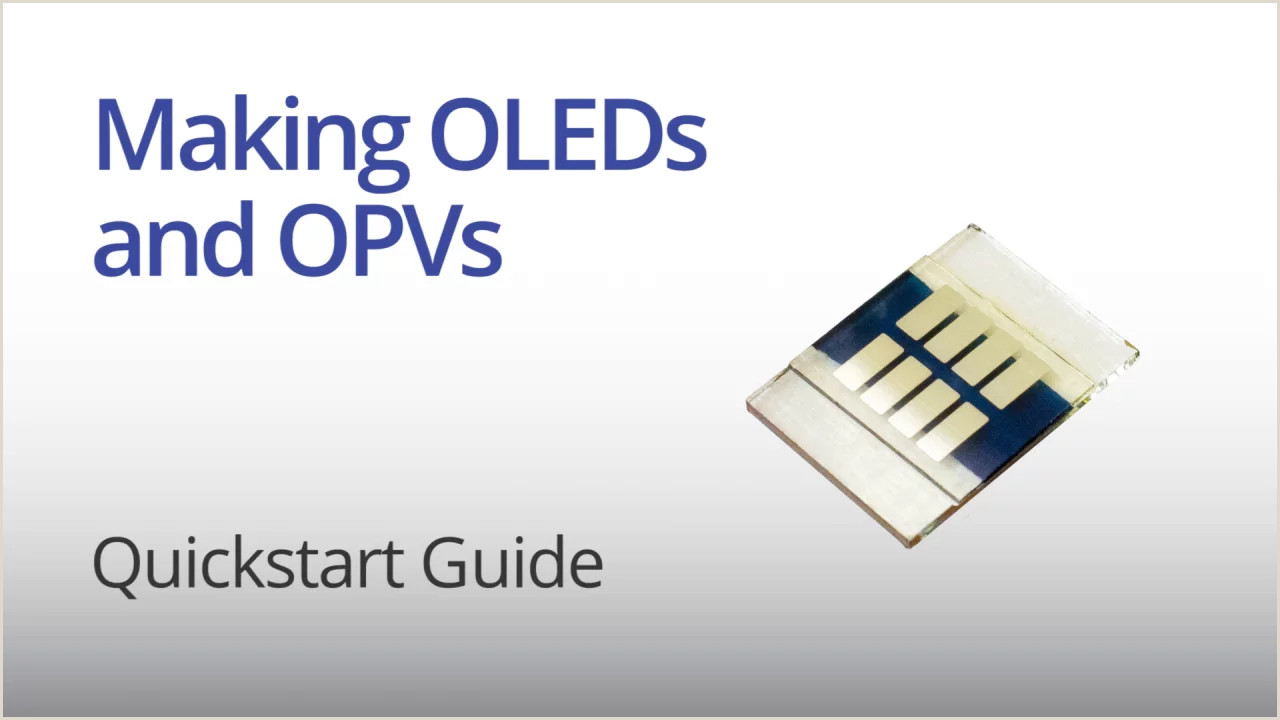 Best Business Cards For Solar Making Oled And Opv Solar Cells Quickstart Guide