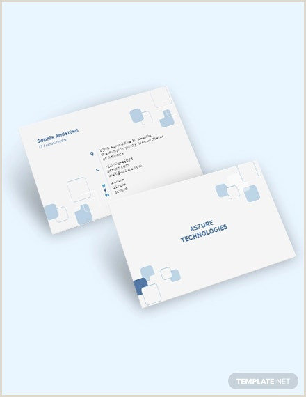 Best Business Cards For Tech Company 35 Information Technology Business Card Templates In Word