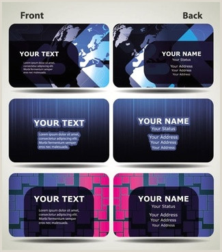Best Business Cards For Tech Company Technology Business Card Free Vector 27 708 Free