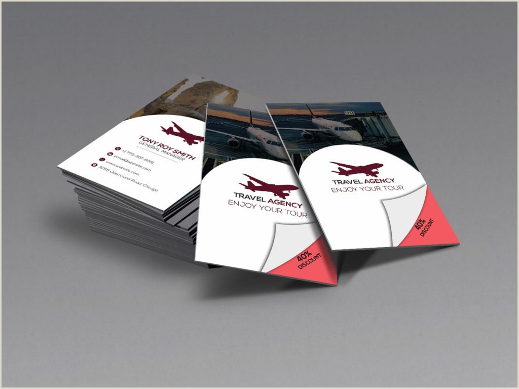 Best Business Cards For Travel 5 Best Travel Agency Business Cards 2020