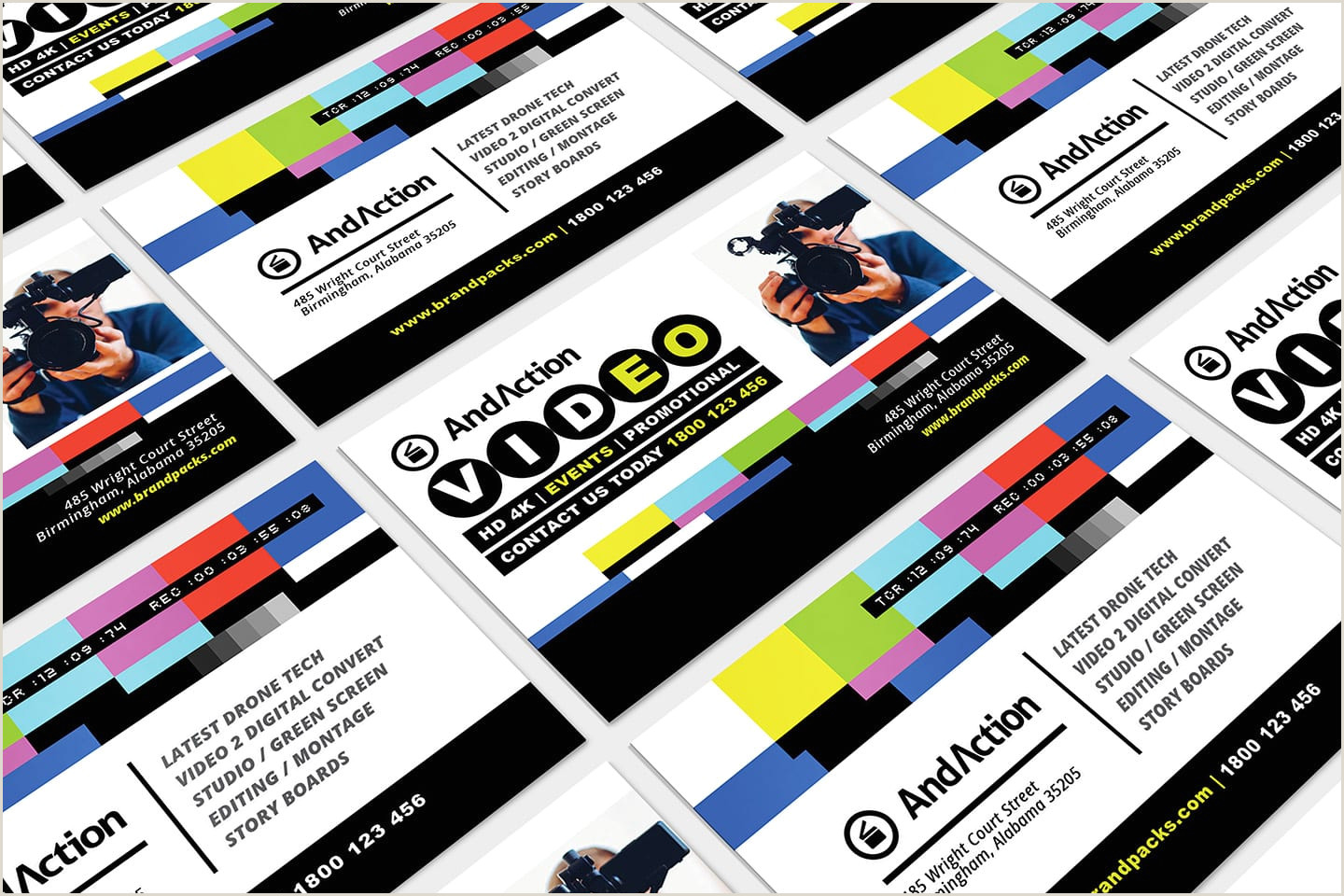 Best Business Cards For Videographer/editor Template Videographer Business Card Template In Psd Ai & Vector