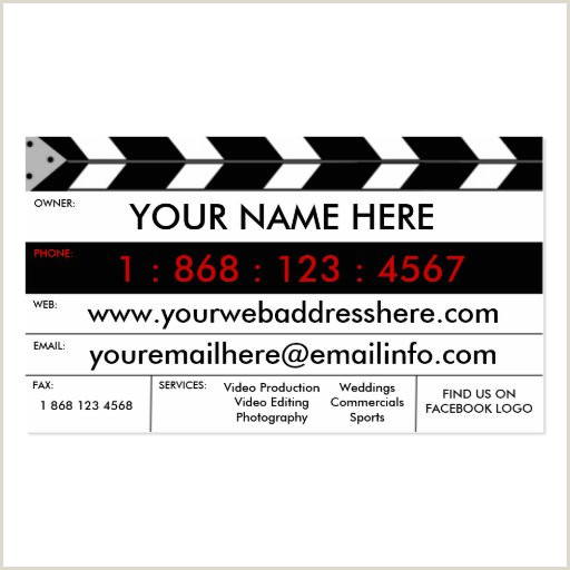 Best Business Cards For Videographer/editor Template Videographer Business Card Templates