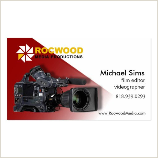 Best Business Cards For Videographer/editor Video Editor Business Cards