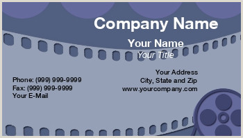 Best Business Cards For Videogrpaher/editor Video Editor Business Cards
