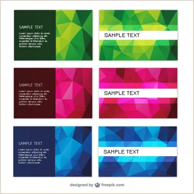Best Business Cards Geometric Geometric Business Card Vector Template