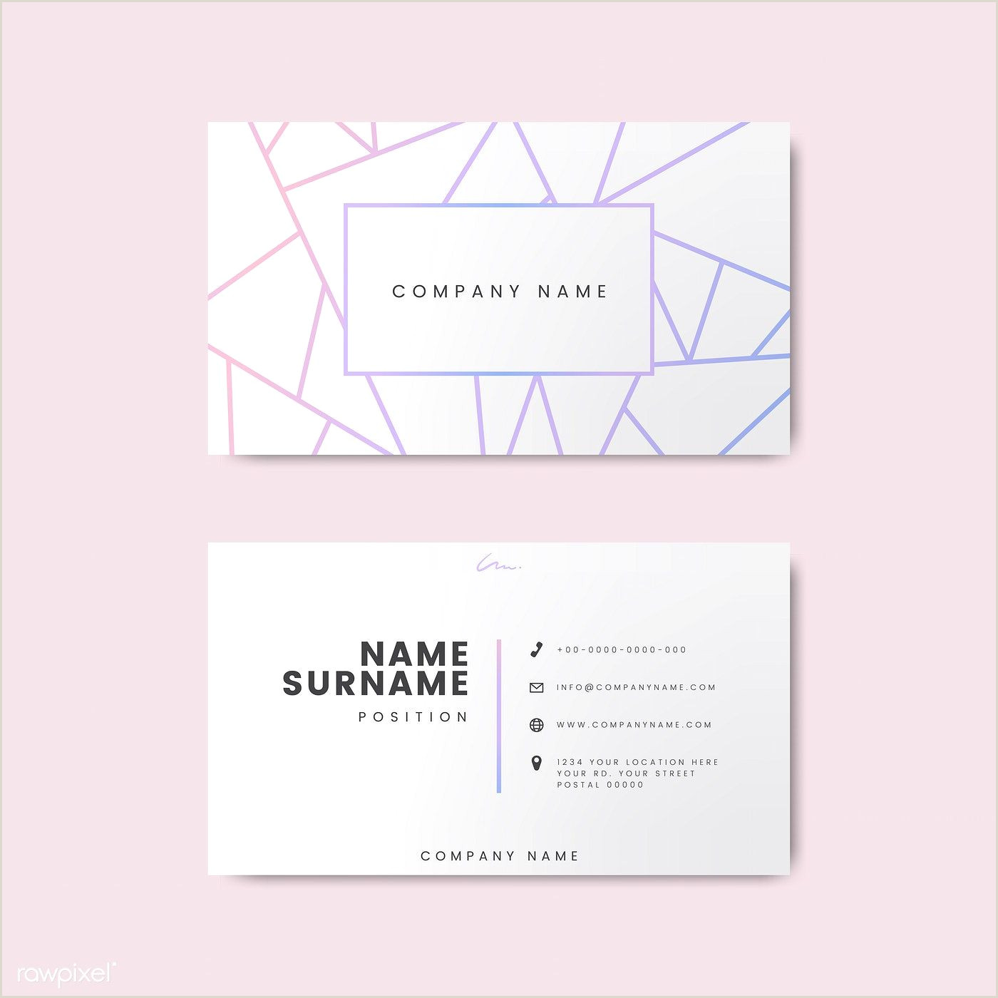 Best Business Cards Geometric Pin On Design