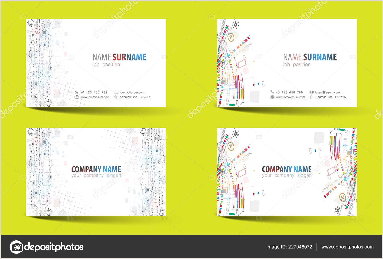 Best Business Cards Images Shaped Creative Double Sided Business Card Template Vector