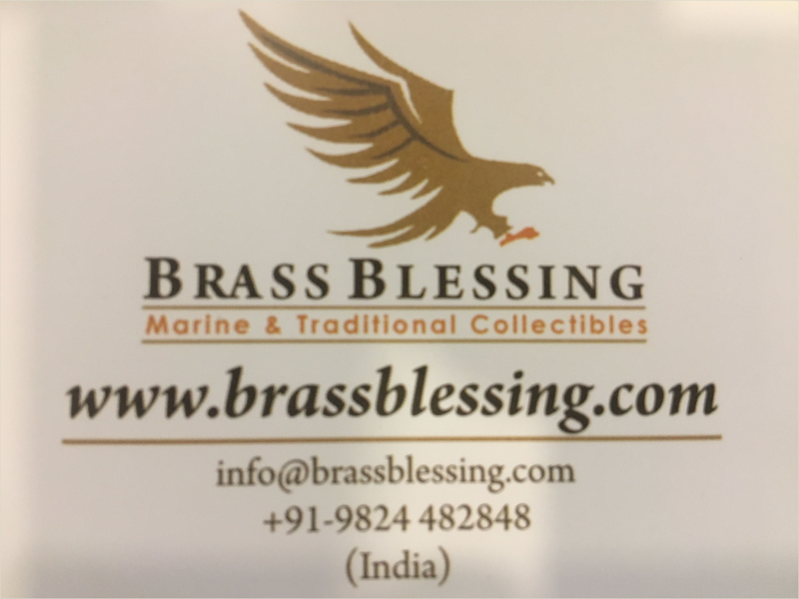 Best Business Cards Online 2020 For Nautical Brass Blessing India Buy Brass Blessing Products Line At