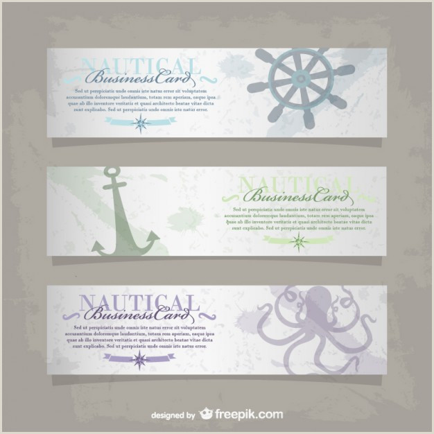 Best Business Cards Online 2020 For Nautical Vector Nautical Business Card Free Vector